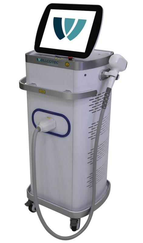 SHR Diodenlaser stationär von WELLCOTEC Germany zur dauerhaften Haarentfernung mit 3 Lichtwellenlängen und SHR Glide Technik - SHR DIODENLASER 8900 3WL White