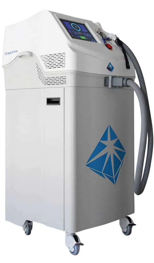 Medical SHR Diodenlaser Sapphire LS1200 zur dauerhaften Haarentfernung - Made in Europe - Wellcotec