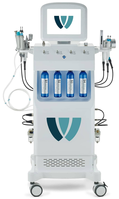 Hydra4Face 200 - Hydra Face Beauty System zur Verschönerung & Vitalisierung der Gesichtshaut - mit deutschen Behandlungswirkstoffen - Wellcotec